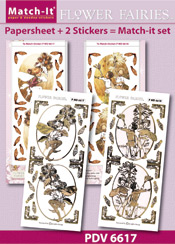 PDV6617SET Match-It Set Flower Fairies klis en katoengras
