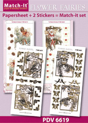 PDV6619SET Match-It Set Flower Fairies pijnboom en taxushout