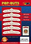 SPC3701 pop outs banner Frohe Weihnachten