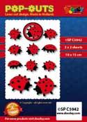 SPC5942 pop outs ladybug
