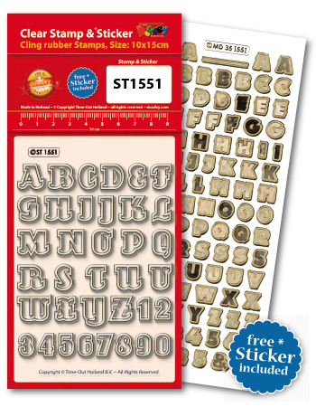 ST1551 Clear Stamps Alphabet and numbers ABC 123