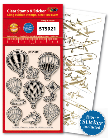 ST5921 Clear Stamps Hot-air Balloons
