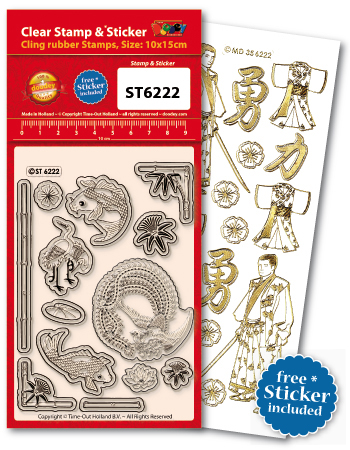 ST6222 Clear Stamps Oriental Mix