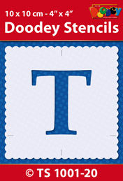 TS1001-20 Stencil , 10x10 cm Capital T