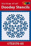 TS3170-05 Doodey Stencil 15x15 cm - Mandala (5)