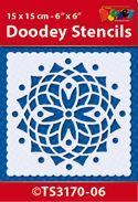 TS3170-06 Doodey Stencil 15x15 cm - Mandala (6)