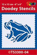 TS3300-04 Doodey Stencil 15x15 cm - Frog
