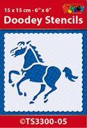 TS3300-05 Doodey Stencil 15x15 cm - Horse