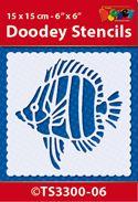 TS3300-06 Doodey Stencil 15x15 cm - Fish