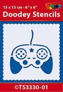 TS3330-01 Doodey Stencil 15x15 cm - Controller