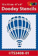 TS3408-01 Doodey Stencil 15x15 cm - Air Balloon