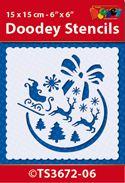 TS3672-06 Doodey Stencil 15x15 cm - X-mas Ball