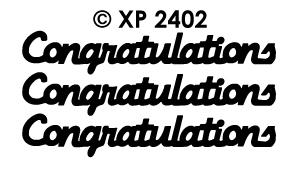 XP2402 Congratulations
