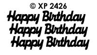 XP2426 Happy Birthday