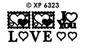 XP6323 Peel-Off Sticker Love You, various Designs