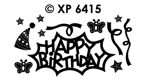 XP6415 Peel-Off Sticker Birthday Various Designs