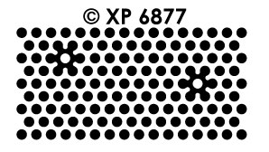 XP6877 Polka Dots Gemstone stickers