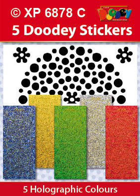 XP6878C Hobby dots stickers groot klein felle kleuren