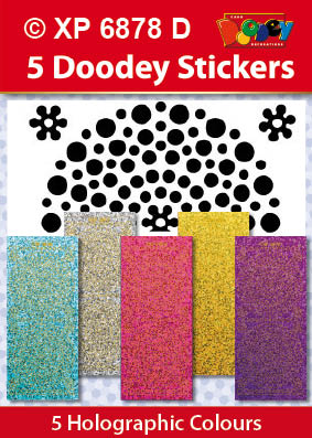 XP6878D Hobby dots stickers groot klein pastel kleuren