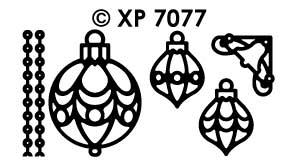 XP7077 Stickervel Kerst items