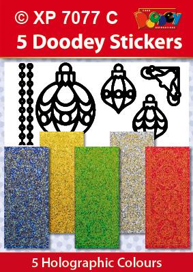 XP7077C Holografische set: Kerst stickers 2