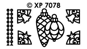 XP7078 Stickervel Kerst items