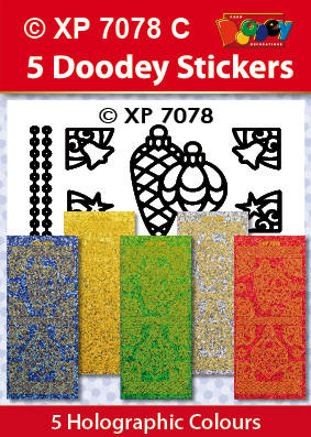 XP7078C Holografische set: Kerst stickers