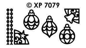 XP7079 Stickervel Kerst items