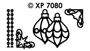 XP7080 Stickervel Kerst items