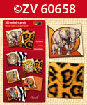 ZV60658 3D mini-Cards African Safari by Charell