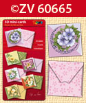ZV60665 3D mini-Cards Flowers by N.v.Veen