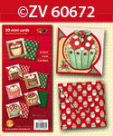 ZV60672 3D mini-Cards Cupcake Christmas by Nastasja van der Wal