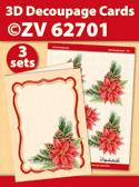 ZV62701 3D Decoupage Cards - Kerstmis