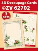 ZV62702 3D Decoupage Cards - Kerstmis