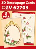 ZV62703 3D Decoupage Cards - Kerstmis