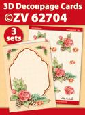 ZV62704 3D Decoupage Cards - Kerstmis