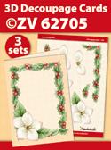 ZV62705 3D Decoupage Cards - Kerstmis