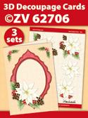ZV62706 3D Decoupage Cards - Kerstmis