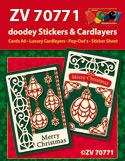ZV70771 Kerstkaarten met doodey stickers en cardlayers