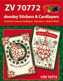 ZV70772 Kerstkaarten met doodey stickers en cardlayers