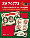 ZV70773 Kerstkaarten met doodey stickers en cardlayers