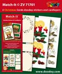 ZV71701 Set Match-It 3D stickers en oplegkaarten kerst
