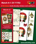 ZV71702 Set Match-It 3D stickers en oplegkaarten kerst