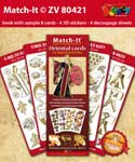 ZV80421 Set Boek met 4 Stickers Match-It Oriental door Ingrid