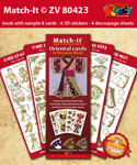 ZV80423 Set Boek met 4 Stickers Match-It Oriental door Marianne