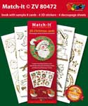 ZV80472 Set Boek met 4 Stickers Match-It 3D Kerst