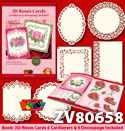 3D Roses Cards