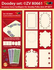 ZV80661 Set 6 Oplegkaarten met Polka Dots patronen(basic)