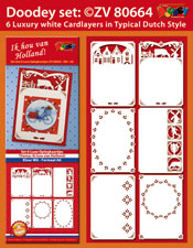 ZV80664 Set 6 Cardlayers Typically Dutch