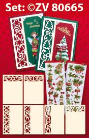 ZV80665 Set 6 oplegkaarten kerst